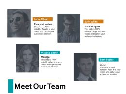 Meet Our Team Introduction Ppt Powerpoint Presentation Summary Structure
