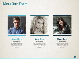 Meet Our Team Introduction Ppt Professional Infographic Template