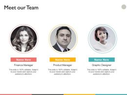 Meet Our Team Investment A30 Ppt Powerpoint Presentation File Gallery