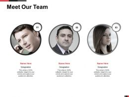 Meet Our Team Members K72 Ppt Powerpoint Presentation Images