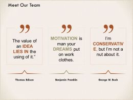 Meet Our Team Motivation I311 Ppt Powerpoint Presentation Ideas Guide