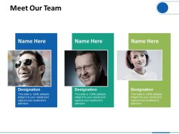 Meet Our Team Planning Ppt Professional Graphics Download