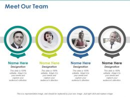 Meet Our Team Planning Ppt Visual Aids Professional