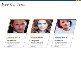Meet Our Team Powerpoint Slide Backgrounds