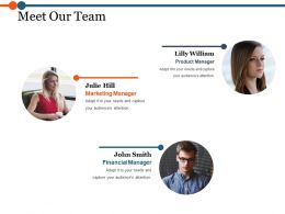 Meet Our Team Powerpoint Slide Design Ideas