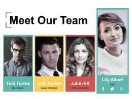 Meet Our Team Powerpoint Slide Information