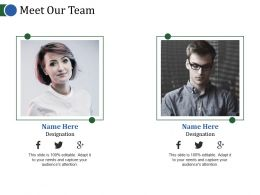 Meet Our Team Powerpoint Slide Introduction