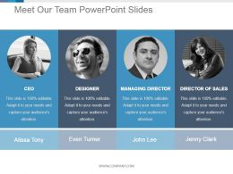 Meet Our Team Powerpoint Slides