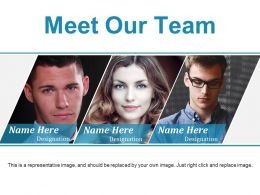 Meet Our Team Ppt Background Template
