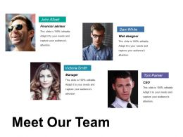 Meet Our Team Ppt Backgrounds