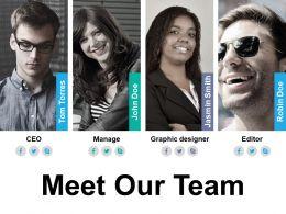 Meet Our Team Ppt Diagrams