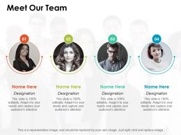 Meet Our Team Ppt Pictures Slide Download