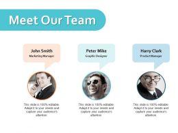 Meet Our Team Ppt Powerpoint Presentation File Slide Portrait