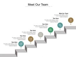 Meet Our Team Ppt Powerpoint Presentation Inspiration Visual Aids Cpb