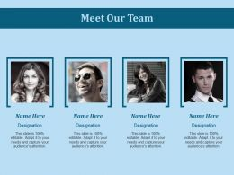 Meet Our Team Ppt Slides Background Image