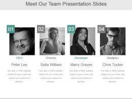 Meet Our Team Presentation Slides