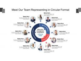 Meet Our Team Representing In Circular Format