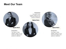 Meet Our Team Tntroduction C157 Ppt Powerpoint Presentation Gallery Files