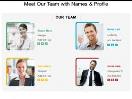 Meet Our Team With Names And Profile