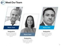 Meet Our Team Work I125 Ppt Powerpoint Presentation Portfolio Grid
