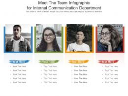 Meet The Team For Internal Communication Department Infographic Template
