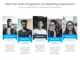 Meet The Team For Marketing Department Infographic Template