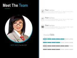 Meet The Team Introduction Analysis Powerpoint Slide