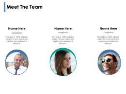 Meet The Team Introduction Management F716 Powerpoint Presentation Pictures