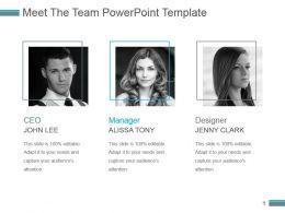 Meet The Team Powerpoint Template