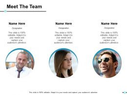 Meet The Team Ppt Show Skills
