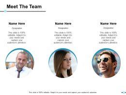 Meet The Team Ppt Show Skills