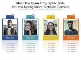 Meet The Team Slide For Data Management Technical Service Infographic Template