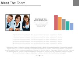 Meet The Team With Result Analysis Powerpoint Slides