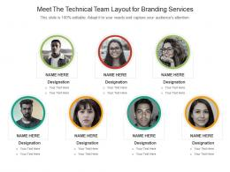 Meet The Technical Team Layout For Branding Services Infographic Template