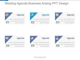 Meeting Agenda Business Arising Ppt Design