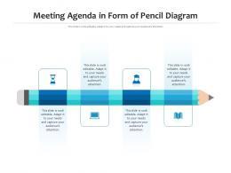 Meeting Agenda In Form Of Pencil Diagram