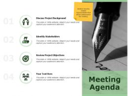 Meeting Agenda Project Background K302 Ppt Powerpoint Presentation Icon Ideas