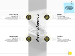 Meeting Agenda Review Project Ppt Powerpoint Presentation Format Ideas