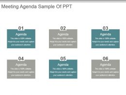 Meeting Agenda Sample Of Ppt
