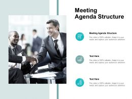 Meeting Agenda Structure Ppt Powerpoint Presentation Styles Cpb