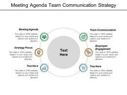 Meeting Agenda Team Communication Strategy Focus Employee Engagement Cpb