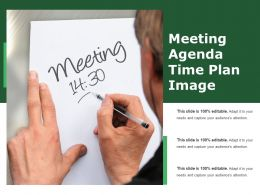 Meeting Agenda Time Plan Image