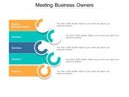 Meeting Business Owners Ppt Powerpoint Presentation Pictures Cpb