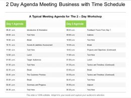 Meeting Business With Time Schedule