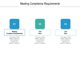 Meeting Compliance Requirements Ppt Powerpoint Presentation Summary Outfit Cpb