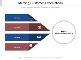 Meeting Customer Expectations Ppt Powerpoint Presentation Pictures Format Ideas Cpb
