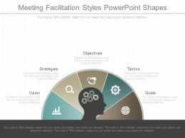 Meeting Facilitation Styles Powerpoint Shapes