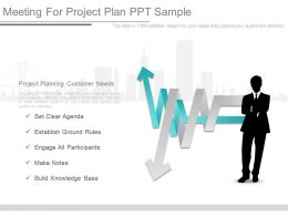 Meeting For Project Plan Ppt Sample
