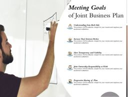 Meeting Goals Of Joint Business Plan