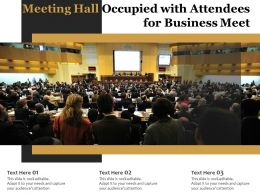 Meeting Hall Occupied With Attendees For Business Meet